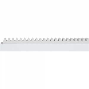 Cremalheira Alumínio Branco com Gomos de Alumínio Branco